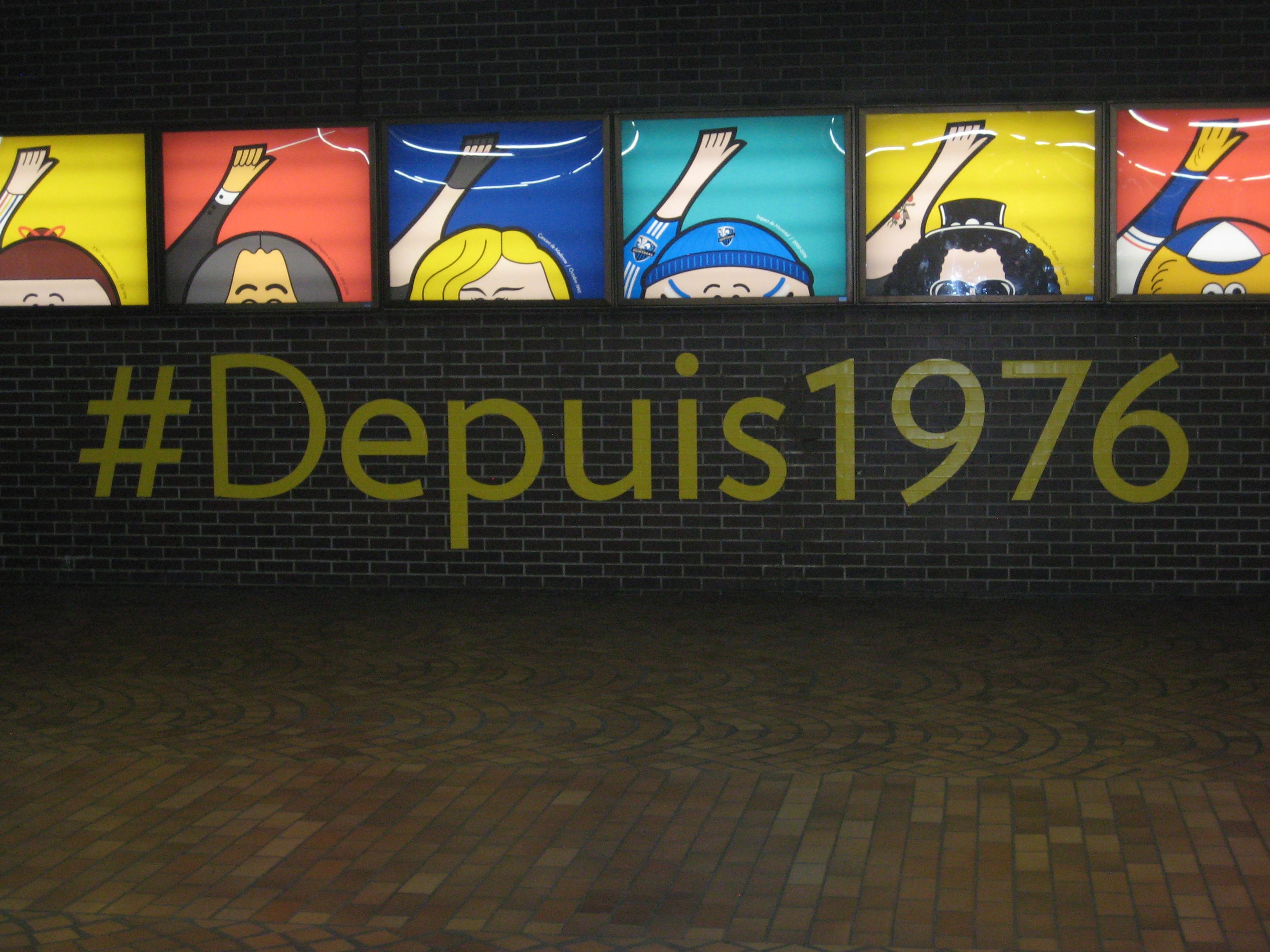 1976 Olympics sign